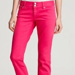 Lilly Pulitzer Worth Straight Jeans Custom Raw Hem